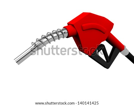 Gas pump nozzles - stock photo