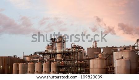 gas refinery - stock photo