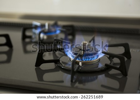 Gas ring - stock photo