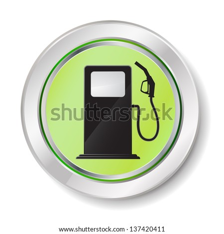 gas station button - stock photo