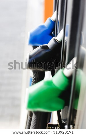 Gas Station. Copy space. - stock photo