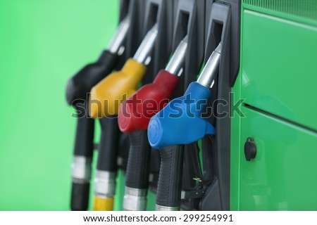 Gas Station, Fuel Pump, Gasoline. - stock photo