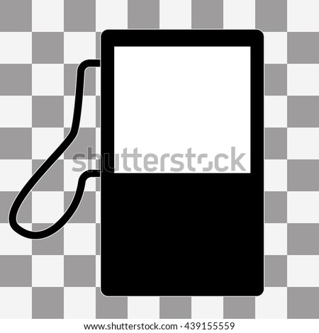 gas station - icon timer Icon on a checkers background - stock photo