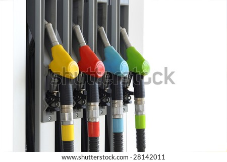 gas station isolated - stock photo