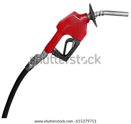 Gas Station Pump Nozzle isolated on a white background