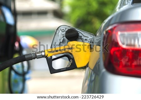 Gas Station pump - petrol  - stock photo