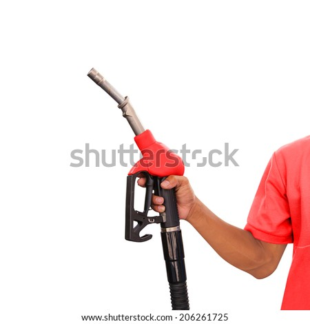 Gas Station Worker and Service  - stock photo