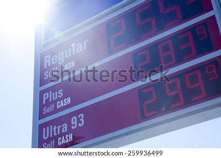 Gas Stations in Long Island, New York  - stock photo