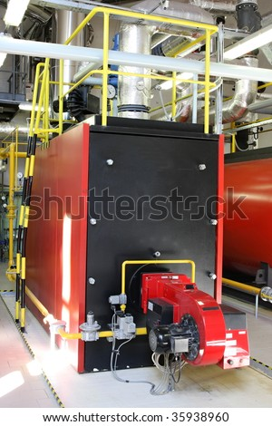 Gas steam boiler