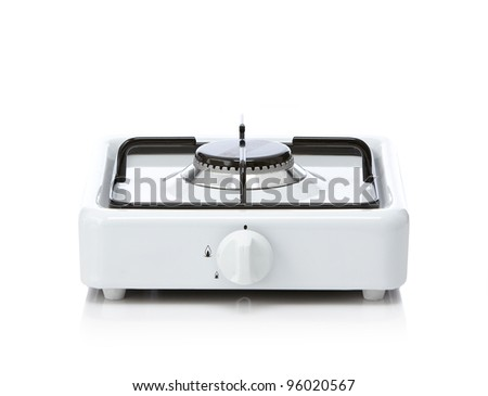 gas stove - stock photo