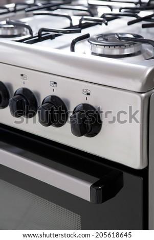 gas stove close up - stock photo