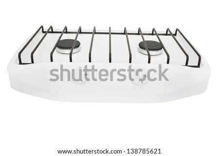 gas-stove under the white background - stock photo