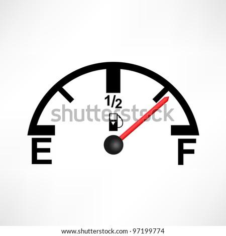 Gas Tank Illustration - stock photo