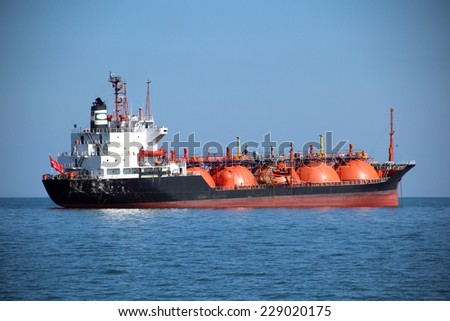 gas tanker - stock photo