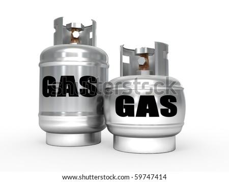 Gas tanks. - stock photo
