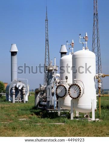 gas transmission system - stock photo