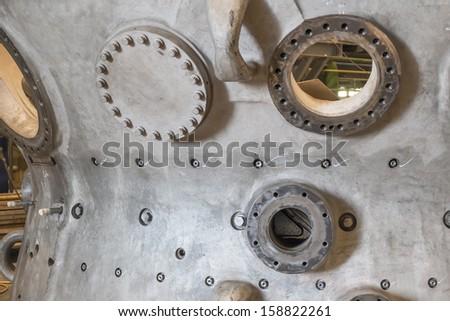 gas turbine enclosure - stock photo
