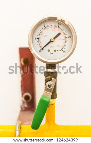 gas valve and meter - stock photo