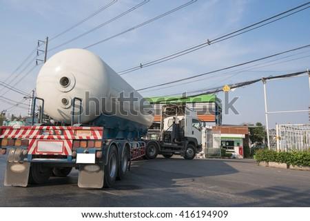 Gas vehicles - stock photo