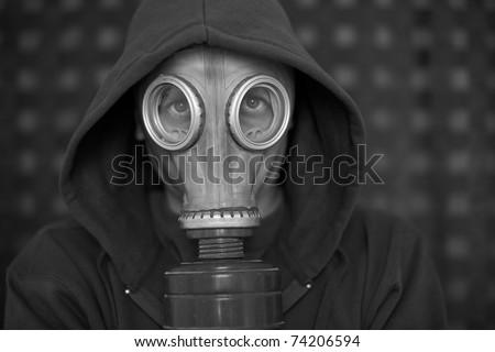 gasmask - stock photo