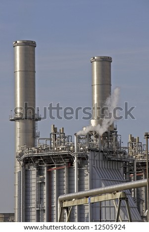 Gasoline plant in Rotterdam the Netherlands - stock photo