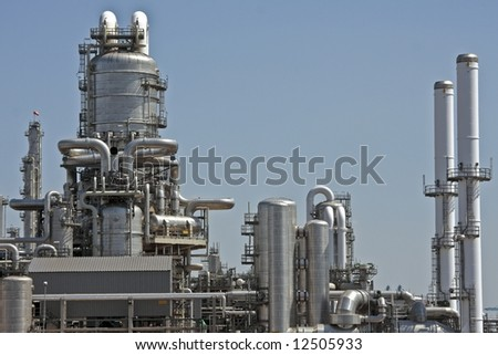 Gasoline plant in Rotterdam the Netherlands