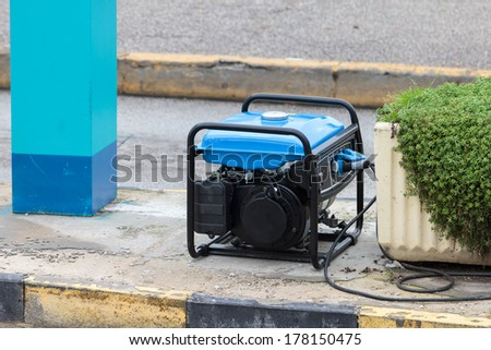 Gasoline powered portable generator - stock photo