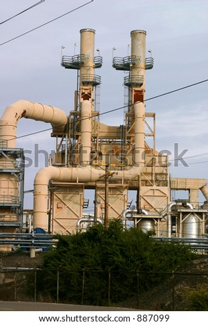 Gasoline Refinery - stock photo