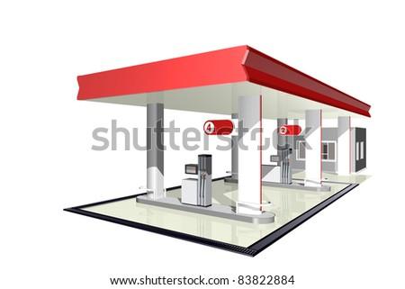Gasoline station - stock photo