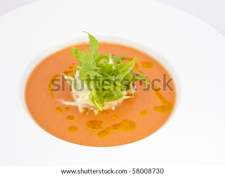 gaspacho tomato soup - stock photo