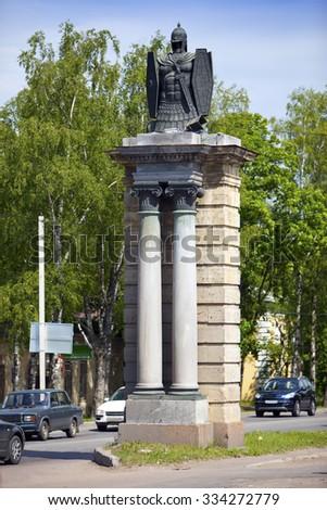 Gatchina, Smolensk (Dwin) gate, Russia, Saint Petersburg - stock photo