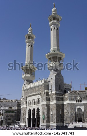 Gate Bal Al Malik Abdul Aziz of Masjidil Haram in Mecca, Saudi Arabia. - stock photo