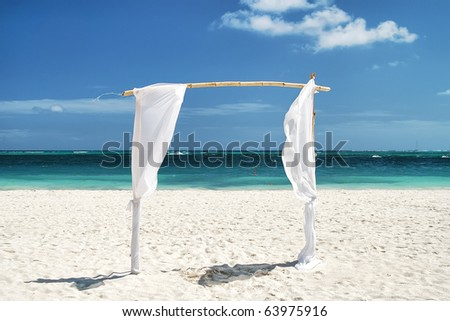 Gate in paradise - stock photo