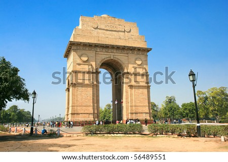 Gate of India  in New Delhi, India - stock photo