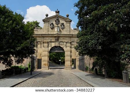 "Gate on ""Vysehrad"" - stock photo"