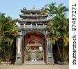 Gate To Minh Lau Pavilion - Hue, Vietnam - stock photo
