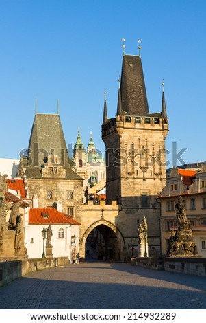 Gate tower of Charles bridge, Prague, Czech Republic