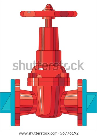 gate valve as the intermediary for connection of two systems - stock photo