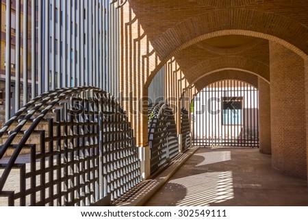 gates Church of San Lorenzo, Valladolid, Spain - stock photo