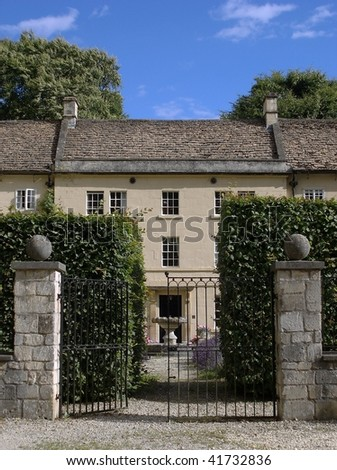 Gates of a Beautiful Town House - stock photo
