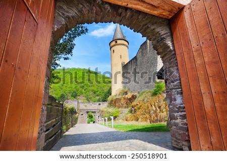 Gates of Vianden castle  - stock photo