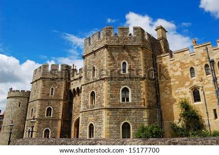 Gates of Windsor Castle in England - stock photo