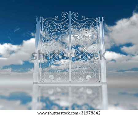 Gates to heaven - stock photo
