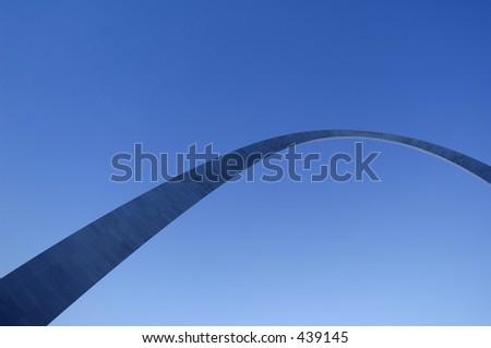 Gateway Arch in St. Louis - stock photo