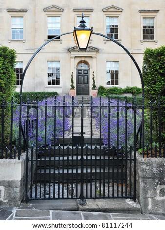 Gateway of a Georgian Era London Town House - stock photo
