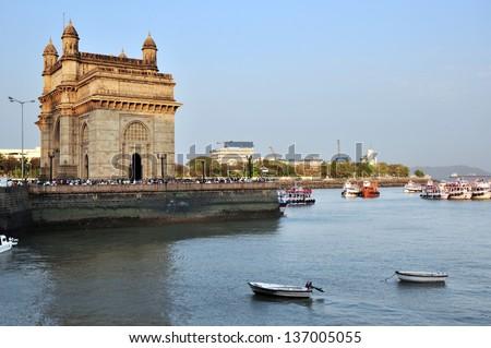 Gateway of India in Mumbai, India. - stock photo