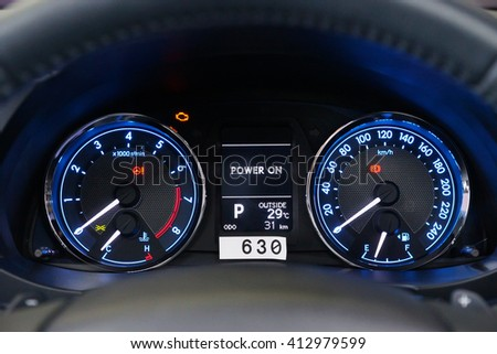 gauge of car