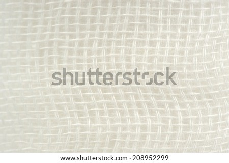 Gauze Bandage Texture Macro - stock photo