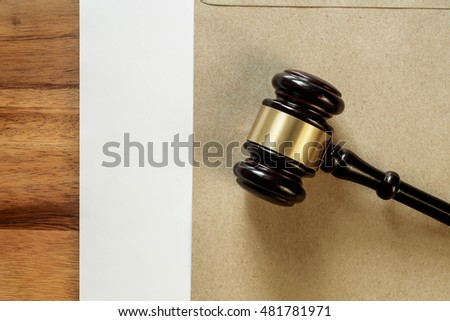 gavel and legal wooden hammer the symbol of law and lawyer concept