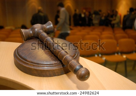 Gavel for auctions or judges sentence tool - stock photo